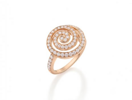 Diamond Swirl Ring 18ct Rose Gold 1.01cts £4600 (Matching Pendant & Earrings available)
