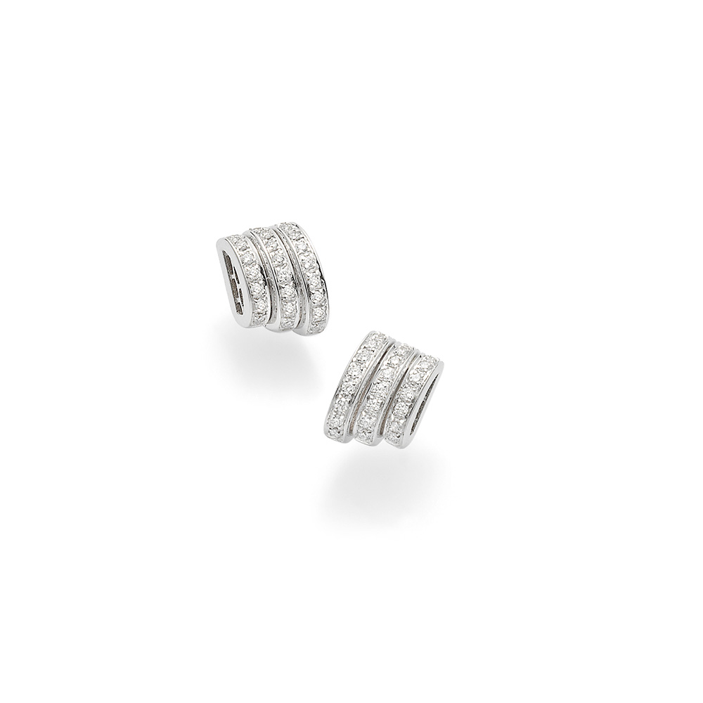 OR744 PAVE FLEX'IT PRIMA EARRINGS DIAMONDS 0.38CTS £2495