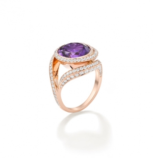 Mystery-cut Amethyst & Diamonds £7400